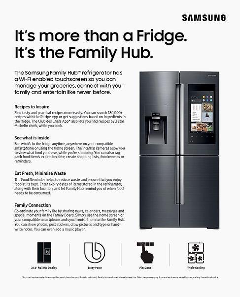 Tauranga Home Show prize Samsung Family Hub Refrigerator