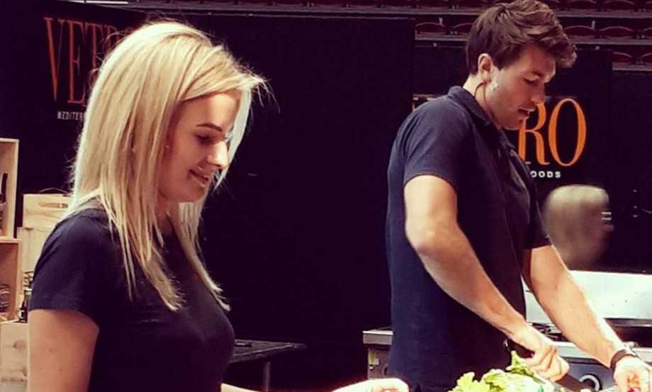 Matilda Rice & Art Green at the Seriously Good Food Show