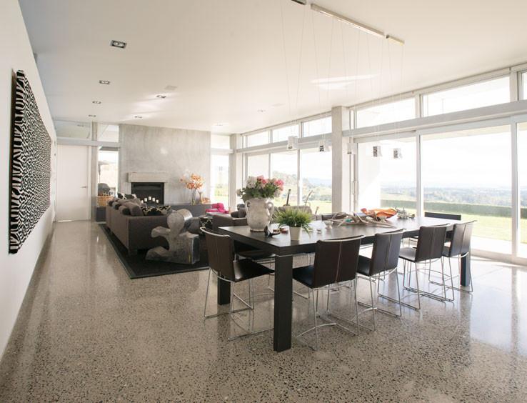 GrindKing medium exposure polished concrete floors