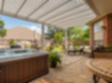 Create an otdoor shade system - louvre, pergola, awning, canopy