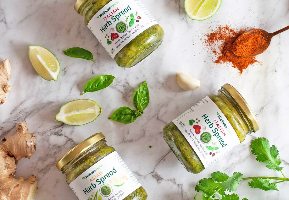 Waiheke Herbs Italian and Asian spread