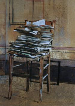 Giornali sulla sedia, 1996