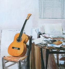 Chitarra nello studio, 1989