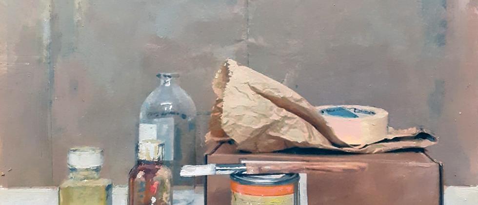 """""""SENZA TITOLO"""" olio su tavola, 100x100cm"""