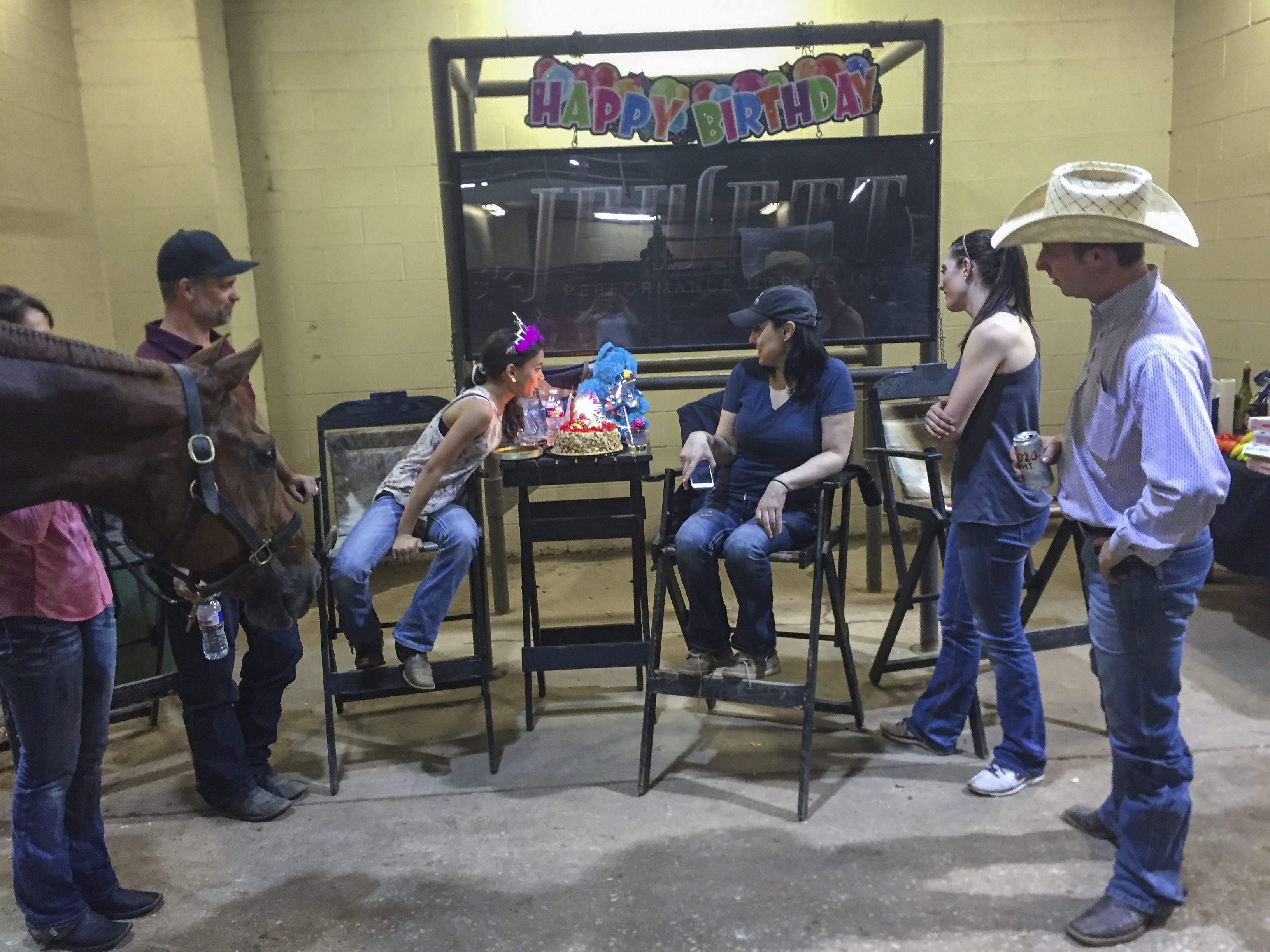 Birthday party at the show