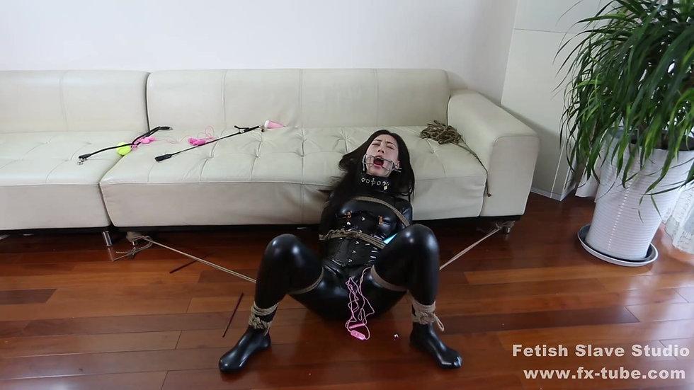 Leather salve girl bondage femdom
