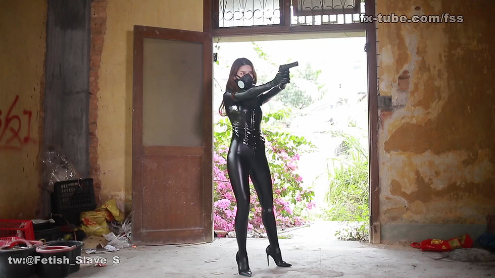 Girl spy costume bondage