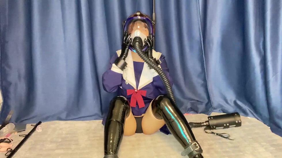 [NANA] JK on gas mask breathplay
