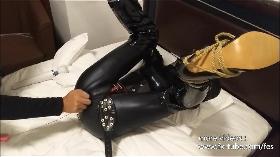 Bondage leather doll with Chastity belt part-1