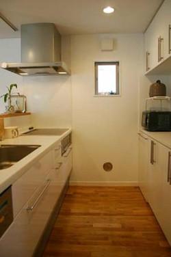 2階の対面式キッチン