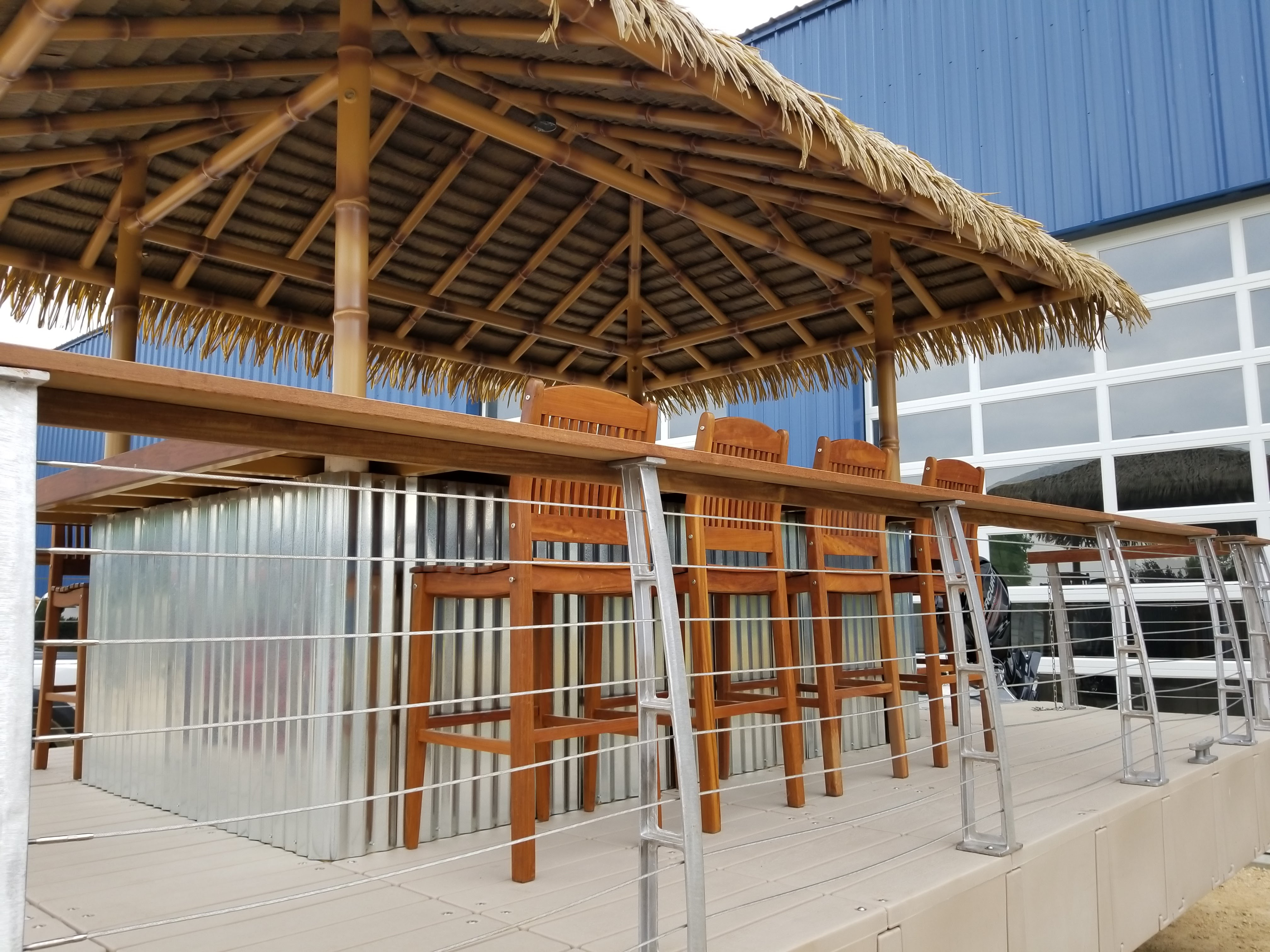 Big Huts Tiki Bar Boat