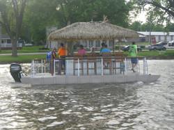 Big Huts Tiki Bar Boat