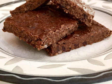 Fudge'y Black Bean + Oat Brownies