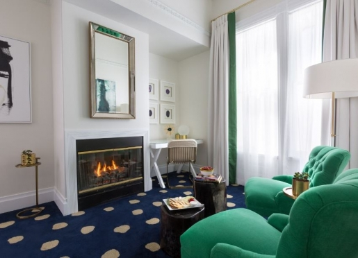 Fireplace Area in our King Suite