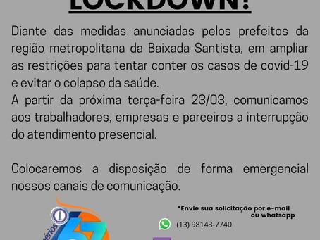 Comunicado Lockdown