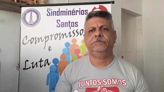 SINDMINÉRIOS SANTOS ainda não recebeu informação da maioria das empresas