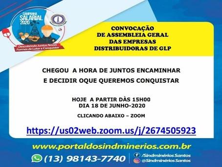 Convite para Assembleia Geral Extraordinária das Empresas Distribuidoras de GLP