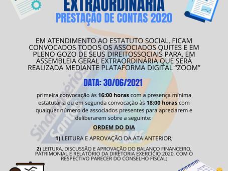Assembleia Geral Extraordinária - Prestação de Contas 2020