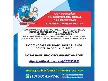 Convocação de Assembleia Geral das Empresas Distribuidoras de GLP