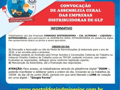 Informativo para Assembleia Geral Extraordinária das Empresas Distribuidoras de GLP