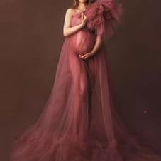 Elegant One shoulder Tulle Dress (Burgundy)  Rental Fee: $35.00