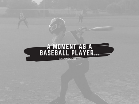 A moment as a baseball player