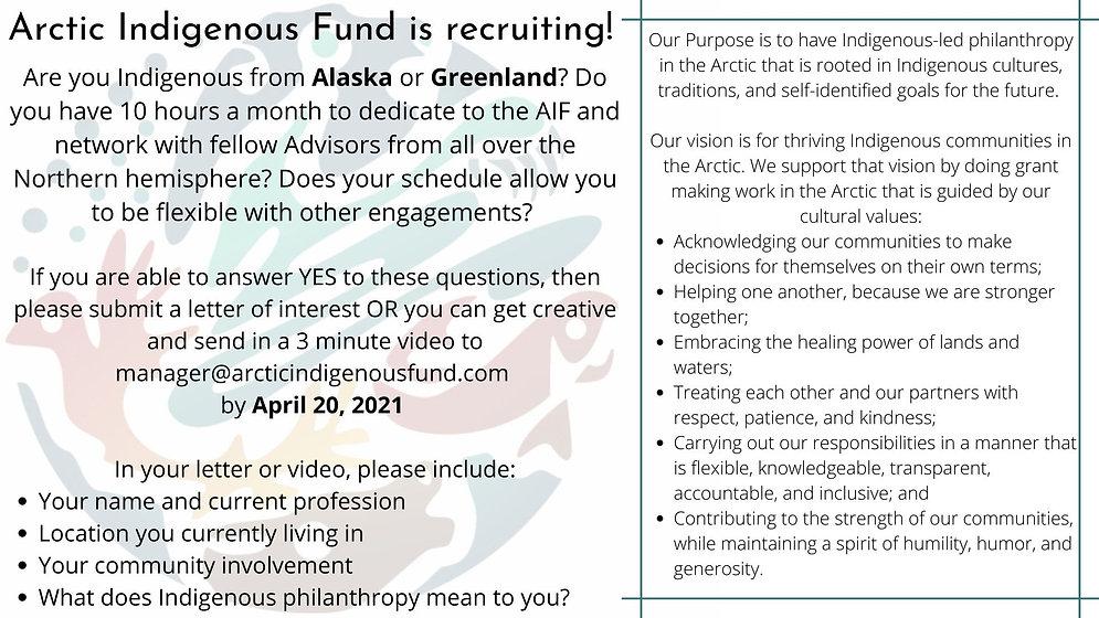Copy of Recruitment poster-Alaska and Gr
