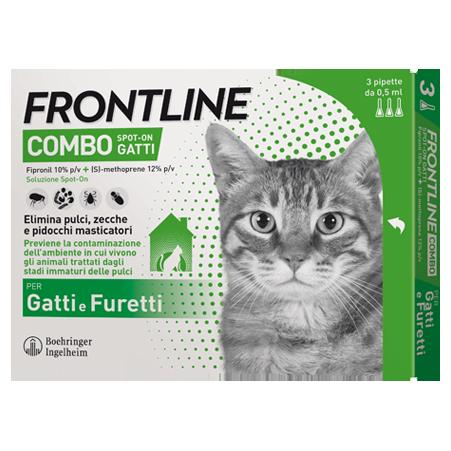 FRONTLINE COMBO GATTI 3 PIPETTE 0,5ML