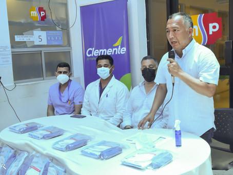 Prefectura entregó kits de bioseguridad al HTD