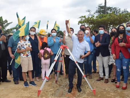 Prefectura interviene víaque conecta 3 parroquias rurales de Portovelo