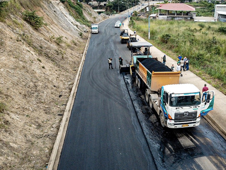 Prefectura avanza obra vial en San Vicente del Jobo