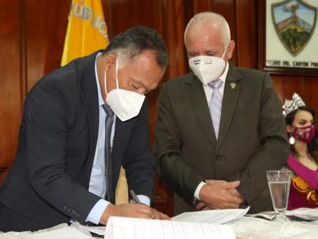 Se firmaron 3 nuevos convenios para ampliar la atención vial en Piñas