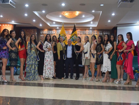 Candidatas a Miss Ecuador visitaron la Prefectura de El Oro