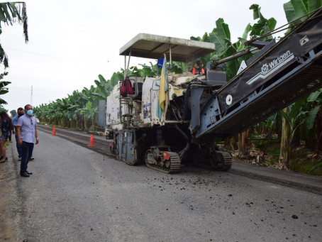 Prefectura rehabilita la vía El Cambio-La Peaña