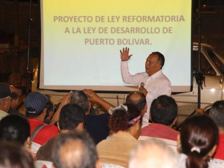 Prefectura socializa avances del proyecto reforma a la Ley de Puerto Bolívar