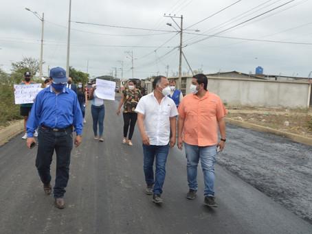 Prefectura interviene más calles del Este de Machala