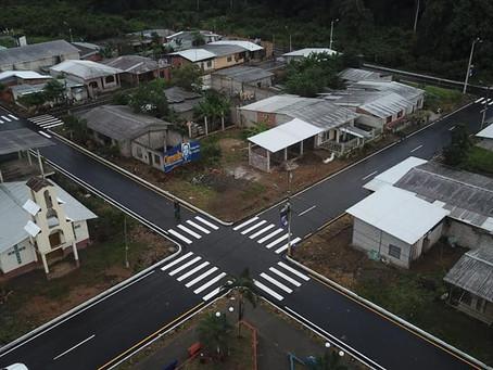 Río Bonito estrena 8600 m2 de calles asfaltadas