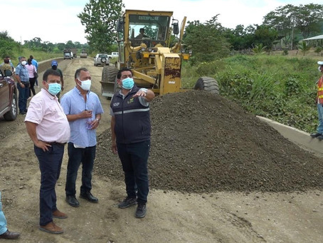 Rehabilitación de la vía San Vicente del Jobo-Arenillas sería entregada en julio