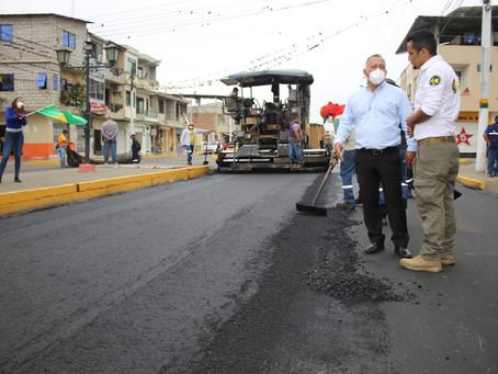 Se concluyó asfaltado y se anuncia nuevo convenio en Santa Rosa