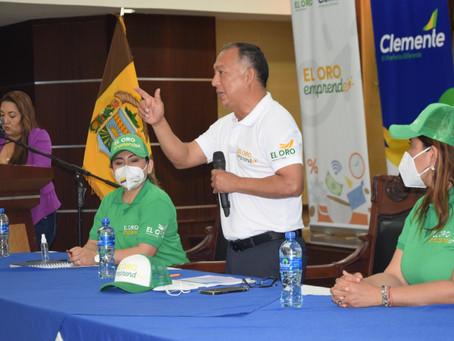 Prefecto Clemente Bravo realizó lanzamiento de agenda de actividades patronales de Machala