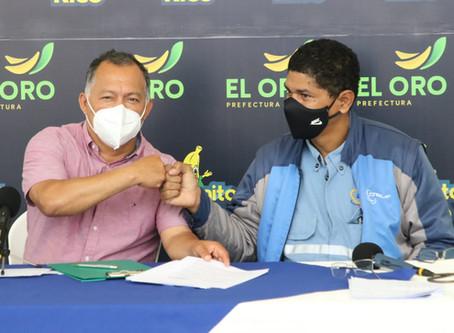 Prefectura y CNEL firman convenio