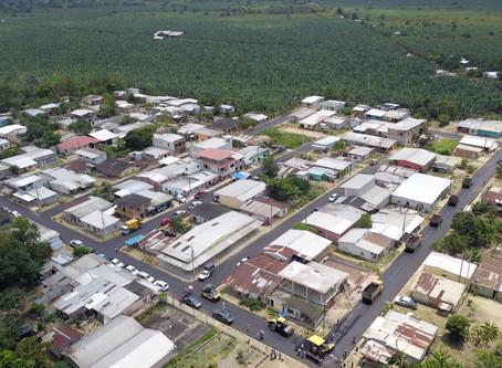 Se asfaltaron calles del sitio Pagua