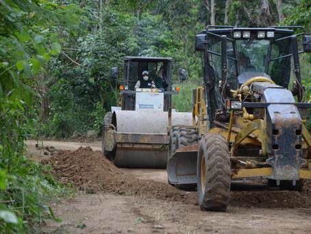 Vías del sector rural intervenidas con lastrado