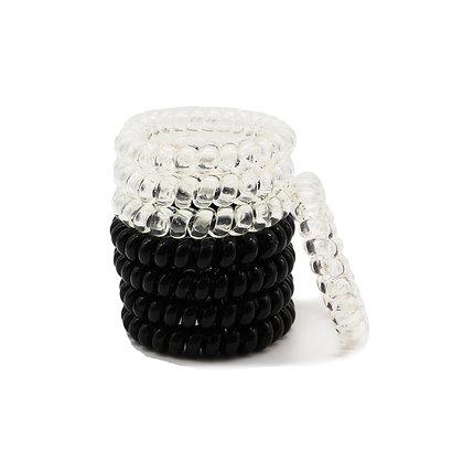HISUM spiral hair coils phone cord