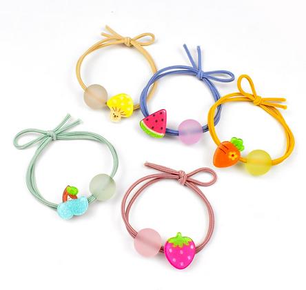 HISUM cute fruit hair elastics