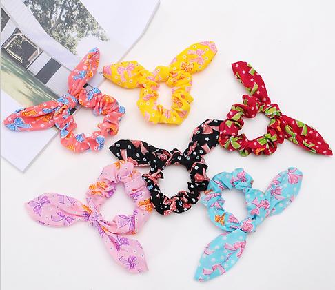 HISUM printed pattern scrunchies