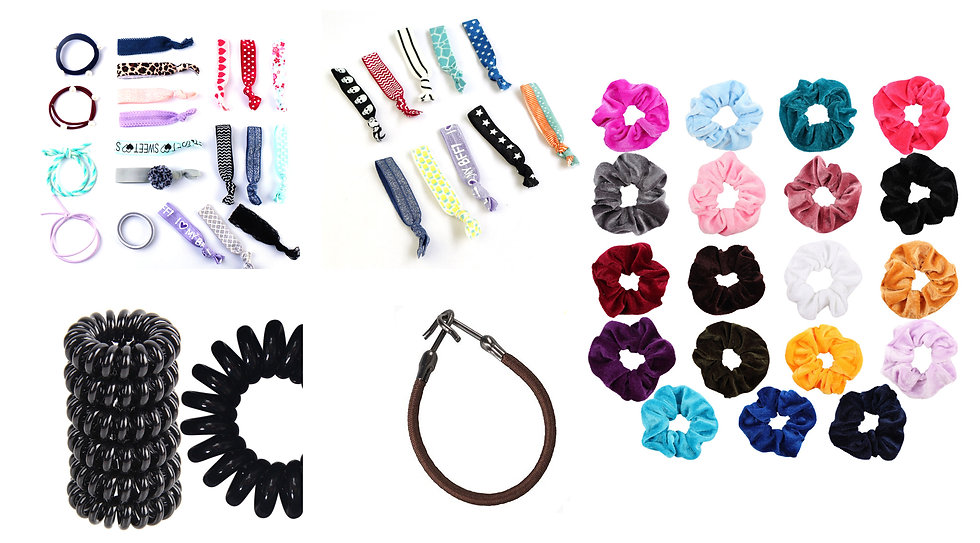 HISUM hair elastics hair ties scrunchies