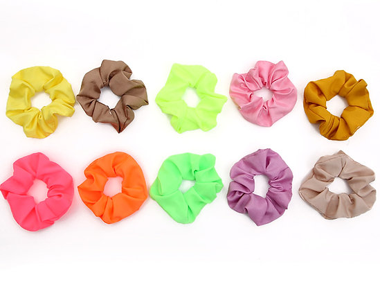 HISUM neon scrunchies