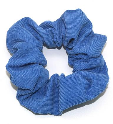 HISUM corduroy BLUE scrunchies fabric hair ties ponytailers