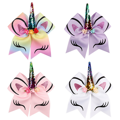 HISUM Unicorn Hair Bows